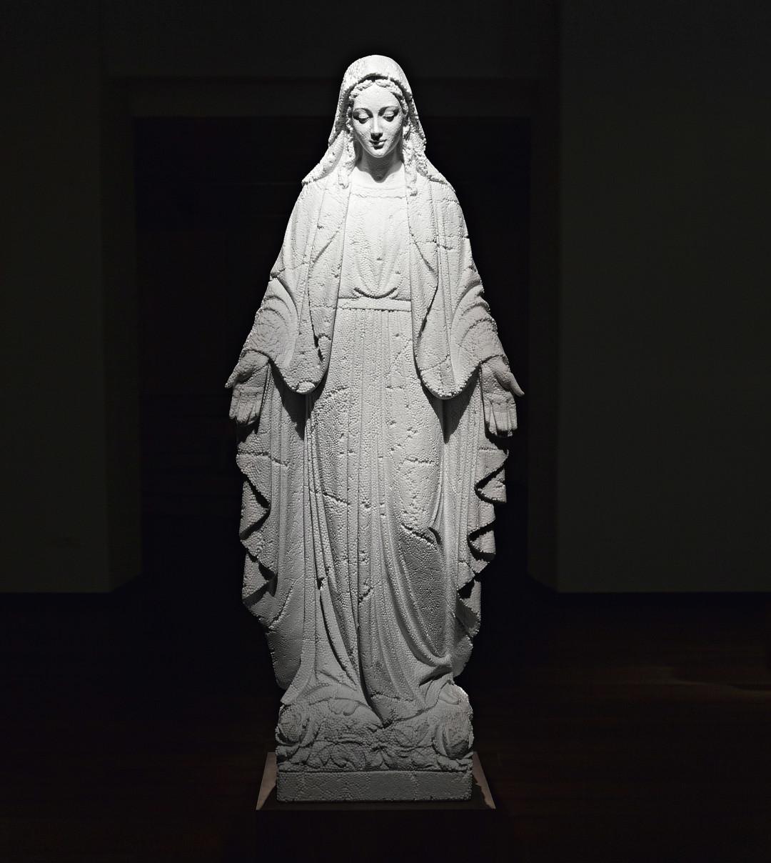 punk fabio viale poggiali forconi marmo marble madonna virgin mary