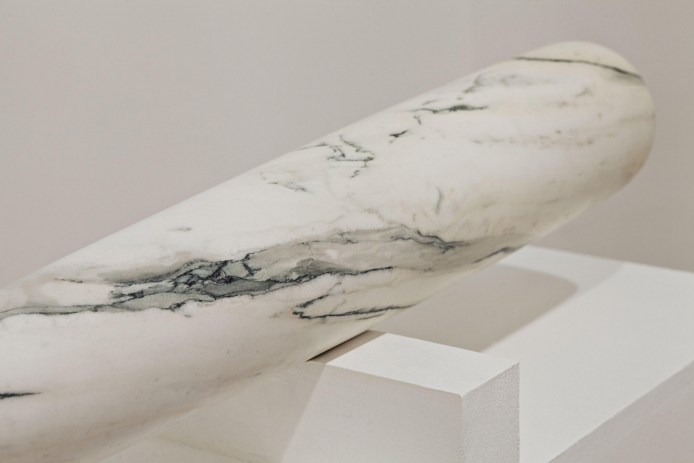 baseball bat marble sculpture fabio viale modern art marmo mazza scultura