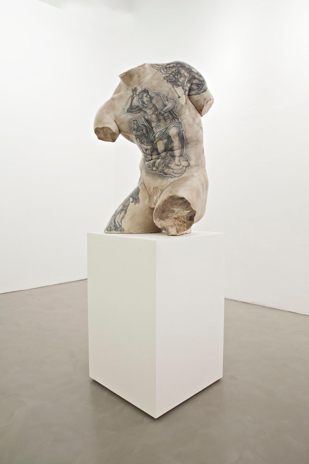 torso tattoo tatuaggio fabio viale marmo marble sculpture scultura art